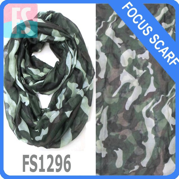 fashion infinity camouflage scarf 8colors