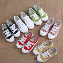 KS10154S Design school kids rubber casual shoes new model canvas shoes in different colors