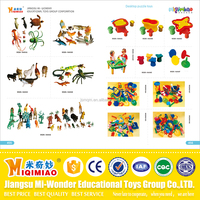Safety material plastic educational toys animals and tools for kids from China
