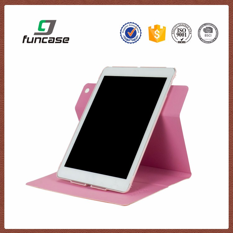 Hot sale 360 degree rotatable pink cartoon case for 7 inch tablet