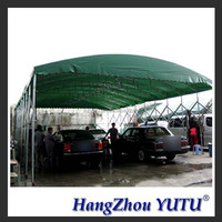 Durable Car Wash Tent , Car Parking Tents Car Storage Tent With Wheels