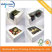 Wholesale customize 12 packs mini paper cupcake box wholesale