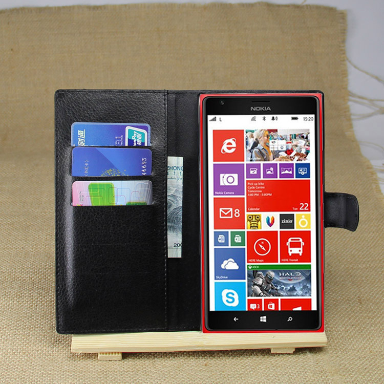 PU Leather flip wallet case cover for Nokia Lumia 1520
