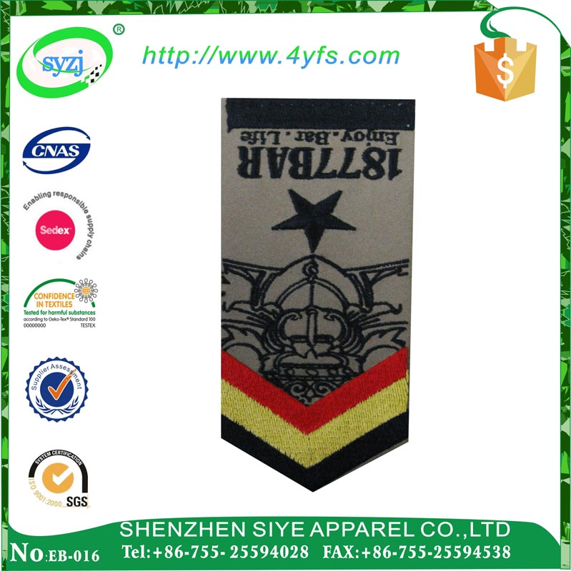 Security Embroidery Shoulder Uniform Navy Epaulette