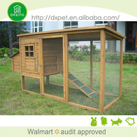 DXH011 Natural Color Professional Made Pets Cheap Wooden Chicken Coop