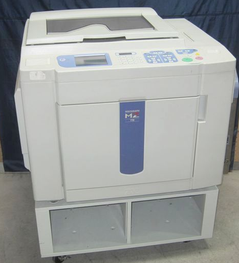 Used digital duplicator for Risos two color machine MZ770 A3 printer