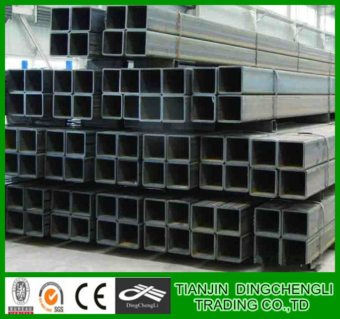 Tianjin Thinner wall thickness pre galvanized gi square pipe