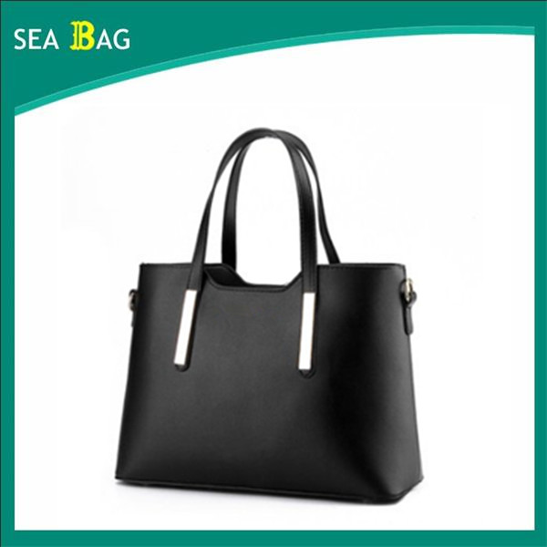 Large Capacity Soft Simple Women Crazy Horse Leather Tote Bag