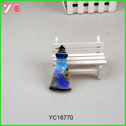 YC16770 NEW DESIGN Lingthouse resin Custom 3D fridge magnets from portugal stickers