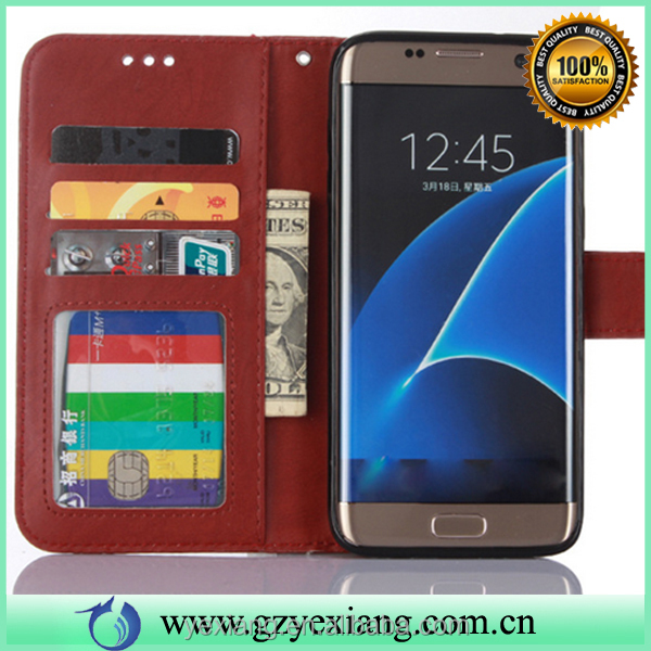 New products 2016 innovative products wallet leather flip cover for Samsung galaxy s5 lether stand case with card holders