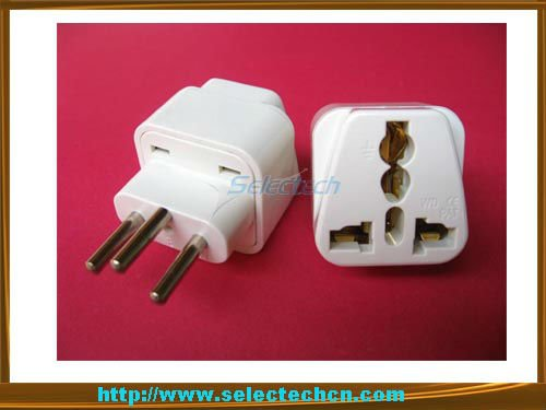 New gadgets universal to swiss plug adapter europe plug converter with ground pin