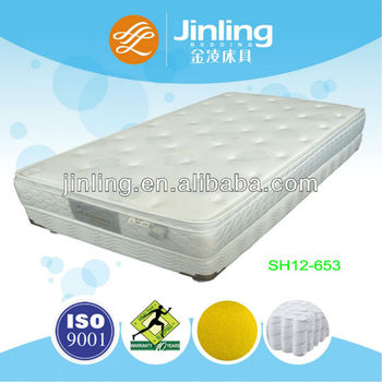 Pocket Coil Spring Mattress with soft coconut palm in filling