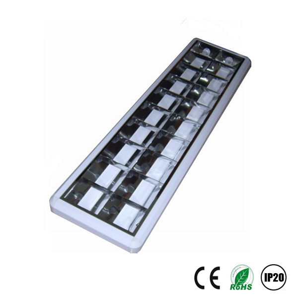 surface grille lamp 2x36w t8 fluorescent with reflector