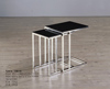 C8010 cheap and reduced design square side table with wooden top