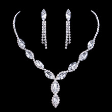Luxury Zirconia Diamond Arabic Bridal jewelry sets for Bridal