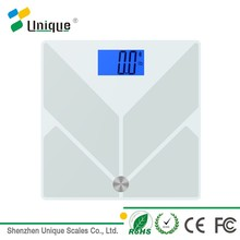 bluetooth function glass electronic body weighing digital bathroom scale for large feet