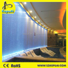 Swimming pool fiber optic waterfall light curtain