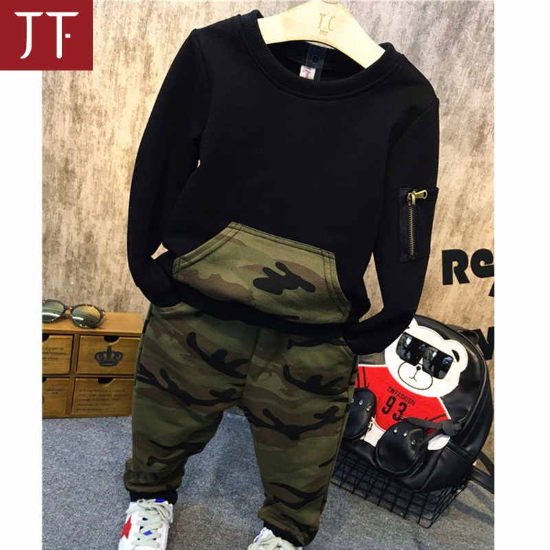 High quality kids boy battle fatigues set children's Boutique Clothes