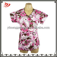 uniform scrubs design printed scrub top