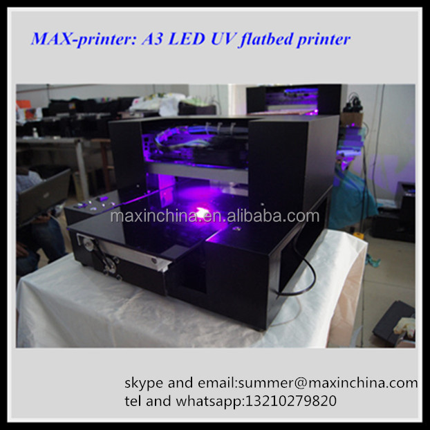 MAX-Printer reasonable price A3 Size UV Printer, Cylinder Bottle Flatbed Printer