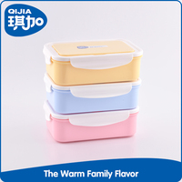 New style 3 compartments school lunch plastic storage box