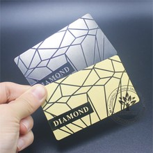 China manufacture custom mirror shinny gold plated stainless steel metal business card