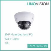 2MP HD WDR Network Vandal-proof IR Dome Motorized lens Outdoor IP Camera