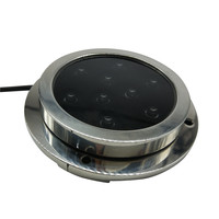 IP68 DC12V ~ 30V 316L stainless steel waterproof 9W 18W led marine blue underwater lights