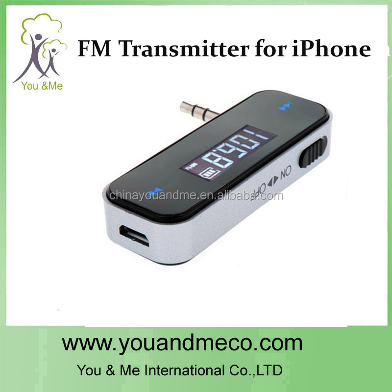 3.5mm car fm transmitter for galaxy s3 for iphone smart mobile phone fm broadcast transmitter radio station manufacturer