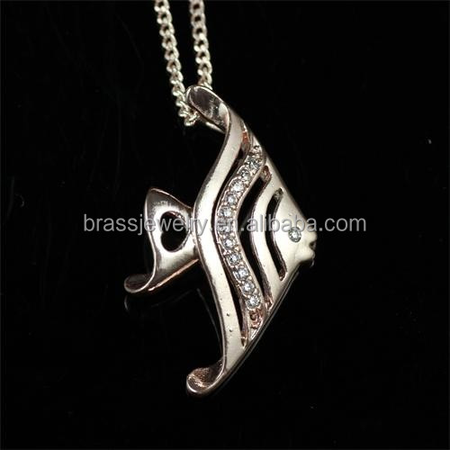 2015 Fashionable New Design Brass Jewelry Fish Shape Wholesale Chunky Statement Necklace in China