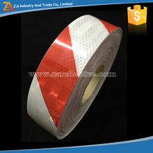 Looking Here! Differnt Reflective Materials Red And White Safety Striped Tape