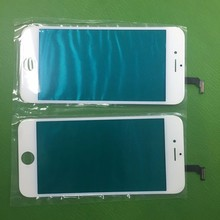 Wholesale for iphone 6s original lcd front screen glass lens with oca hot glue frame polarizer