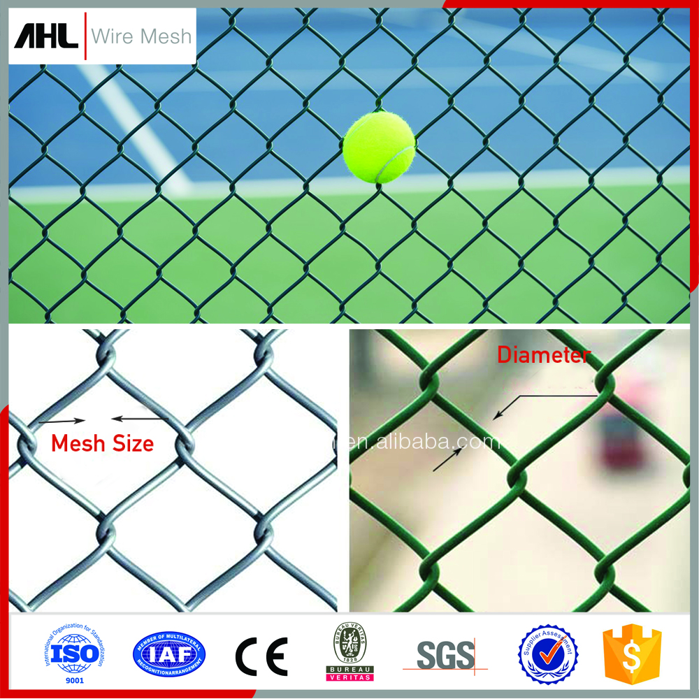 Wholesale 8 Foot PVC Coated Galvanized Menards Chain-Link Fence Per Sqm Weight Panel Price For Sale Used Chain Link Fence Mesh