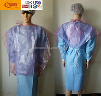 disposable plastic PE barber cape /apron / bib in hair beauty salon