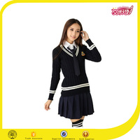 The latest japanese school girl uniform korean style sweater new design beautiful sweater