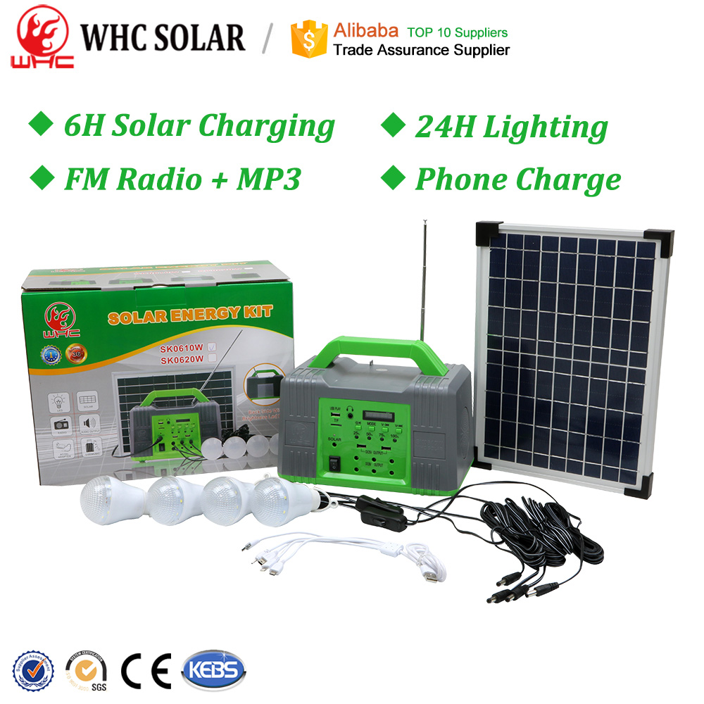 Portable Complete PV Panel Energia System Camping Lamp Light Power Mini Generator Home Lighting Solar <strong>Energy</strong> Kit With Battery
