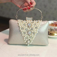 Factory direct wholesale fashion dress bride wedding dress dinner bag hand carefully sewing sturdy superior quality
