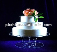 VC-231 Crystal 2-tier round butterfly perspex cupcake stand