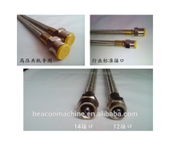 High quality steel high pressure hard diesel fuel injection oil pipe for test bench M14*14