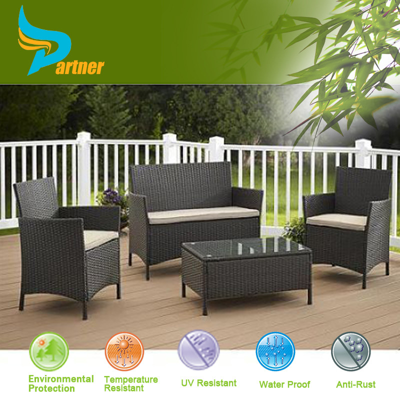 All Weather Leisure Ways China Wicker Casual Seating Espresso Color Sectional