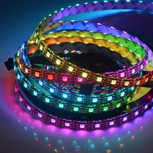 Chinly 5M*60LED/M IP65 APA102 DATA and CLOCK Seperated Smart LED Pixel Strip with Black PCB Silicon Coating