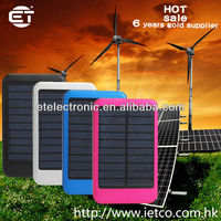 High Power 5000MAh Outdoor portable solar charger for mobile phone