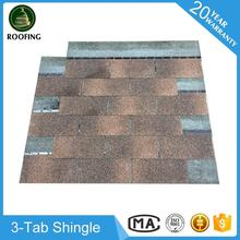 Hot selling 3-Tab waterproof roofing material,bitumen shingles with low price