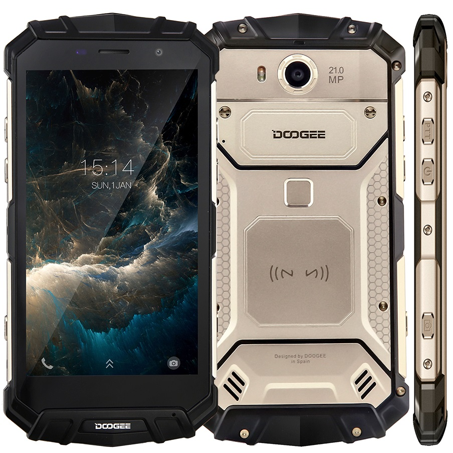 DOOGEE S60 IP68 Waterproof Chinese 4G LTE phone 6GB 64GB Octa Core Android 7 Finger ID unlock NFC Rugged Smartphone mobile phone