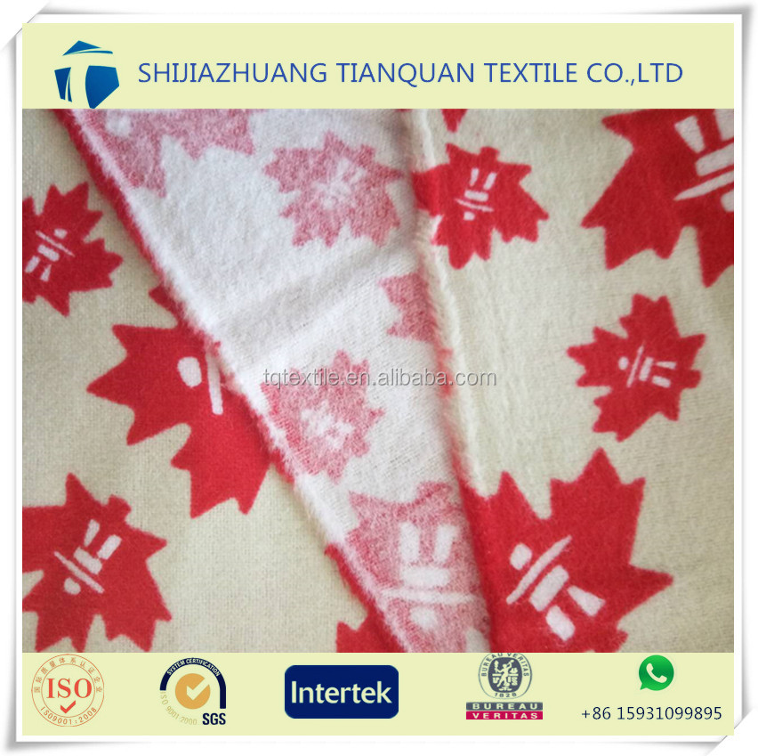 wholesale cotton printed fabric canada design flannel bedding set fabric