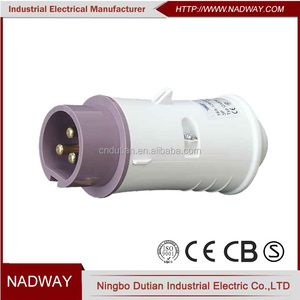 IP44 waterproof CEE/IEC low voltage 3-pin industrial power plug