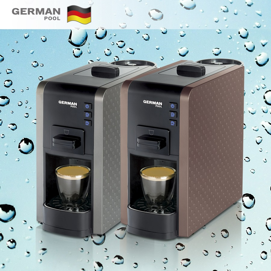 German Pool Custom made Durable material 230V Lavazza Espresso Point External Water Tank coffee machine maker with thermos