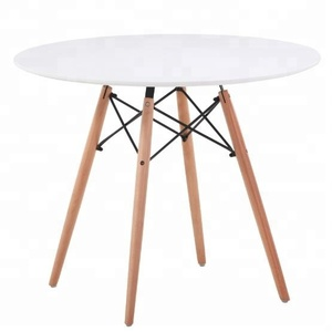White MDF dining tables cheap centre dining tabels for sale