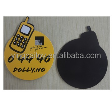 fridge magnet, pear shape with phone