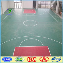 Indoor basketball court PVC vinyl sports flooring with 8.0mm thickness